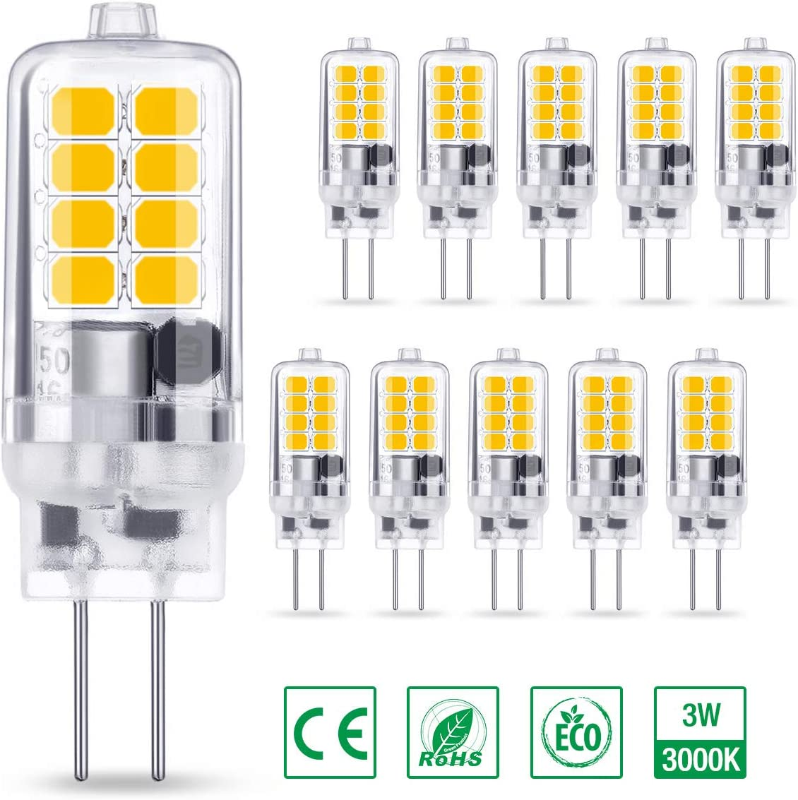 Ambother G4 Led Bulbs 3w Equivalent To 40w Halogen Bulbs Warm