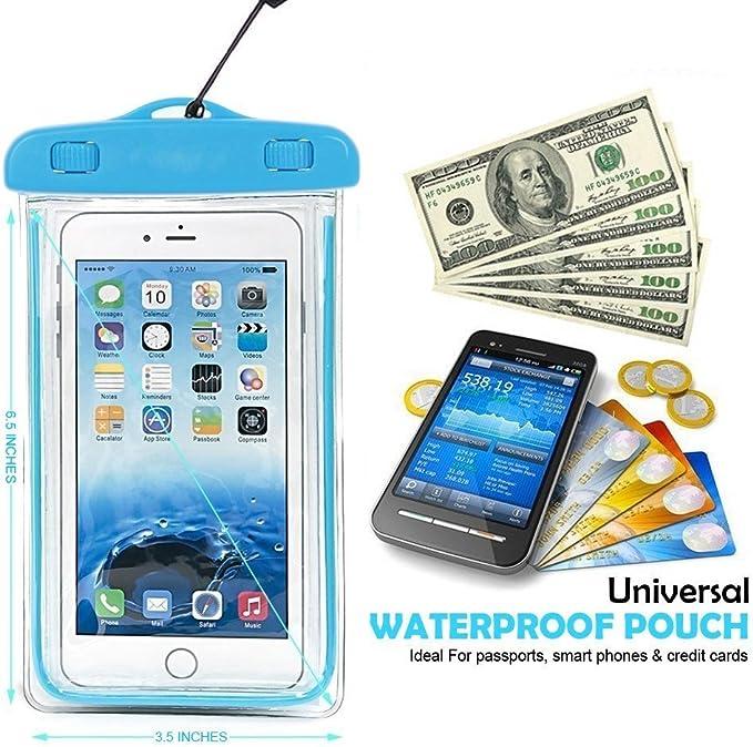 i-sonite Universal transparente teléfono móvil, pasaporte, dinero ...