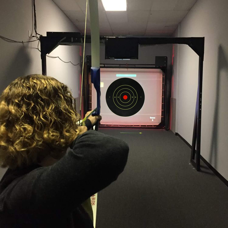 fusils fusils /à balles rondes Cibles de tir par /éclaboussures r/éactives 8 pouces Silhouette Pratique de chasse Silhouette jaune p/âle fluorescent lors de la frappe pour pistolets