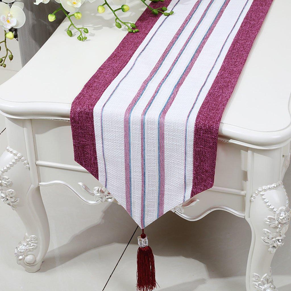 compra en línea hoy LINGZHIGAN Red Stripe Cloth Cuadro Cuadro Cuadro corredor Moderno Simple Moda Upscale Salón Cocina Restaurante Hotel Textiles para el Hogar (Este producto sólo vende corredor de mesa) 33  200cm  ahorra hasta un 70%