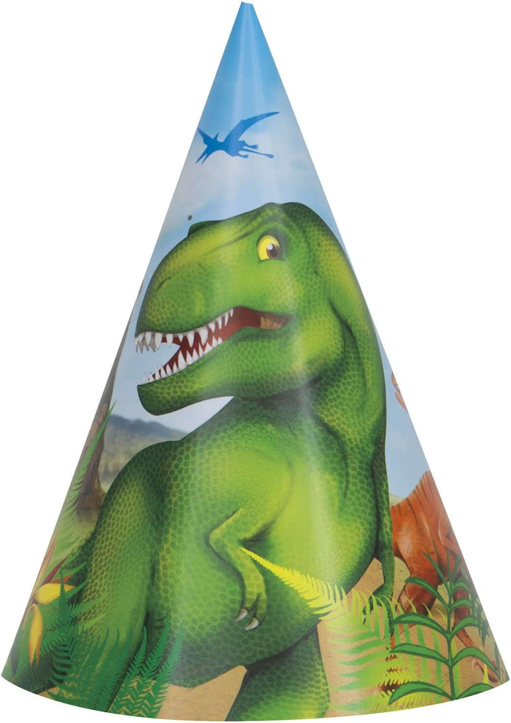 Dinosaur Party Hats 8ct