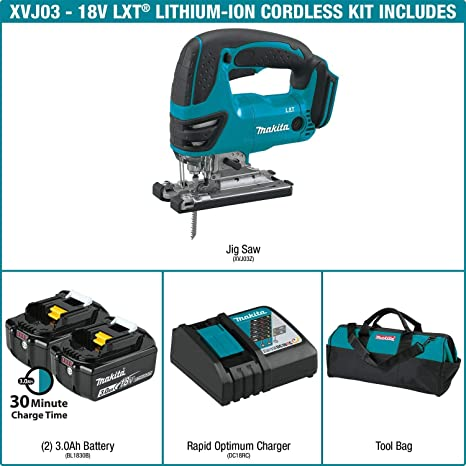 "Makita DJV180 18 V LXT Li-Ion Scie Sauteuse 19/"" Heavy Duty Rolling Storage Toolbox"