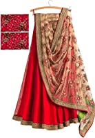 Myozz Women's Banglori Silk Lehenga Choli (Mc20016_Red_Free Size)