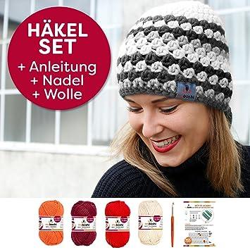 Mütze Agano Mit Streifendesign Selbst Häkeln Mit Dem Myboshi