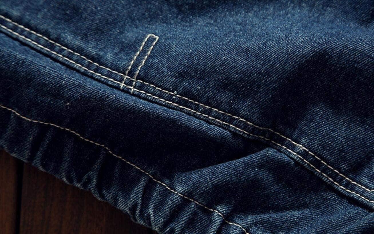 YYear Men Casual Pocket Denim Drawstring Pullover Hoodie Sweatshirt