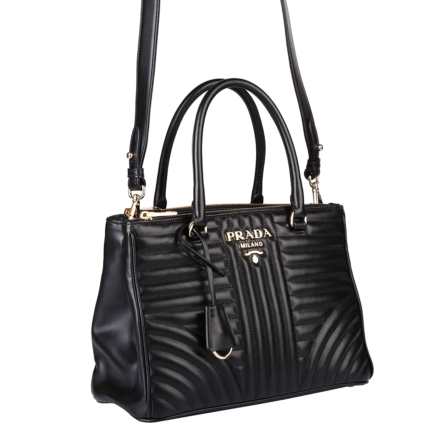 65eb3ab0c5b4 PRADA Bags Cross Body Shoulder Tote Handbags Black Leather 100% authentic:  Amazon.ca: Shoes & Handbags