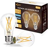 Dimmable A19 LED Edison Bulb 75W Equivalent, DORESshop 9W A19 Vintage LED Filament Bulb, 2700K Soft White, 900LM, Antique Sty