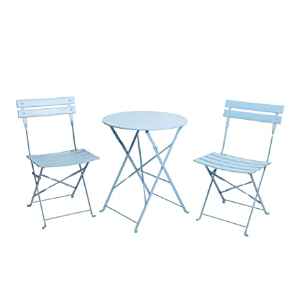 Terrific Finnhomy 3 Piece Outdoor Patio Furniture Sets Outdoor Bistro Sets Steel Folding Table And Chair Set W Safe Lock For Indoors And Outdoors Bistro Home Interior And Landscaping Staixmapetitesourisinfo