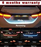 Fabtec Triple Colour Streamer, Brake & Turn Signal Flow LED Trunk Light for Cars & Mini SUVs (72 LED, 4FT)