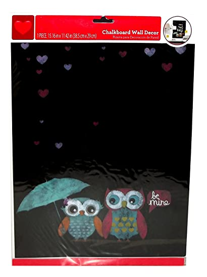 Amazon.com: Owls Be Mine Chalkboard Wall Decor 15.16 x 11.42 ...