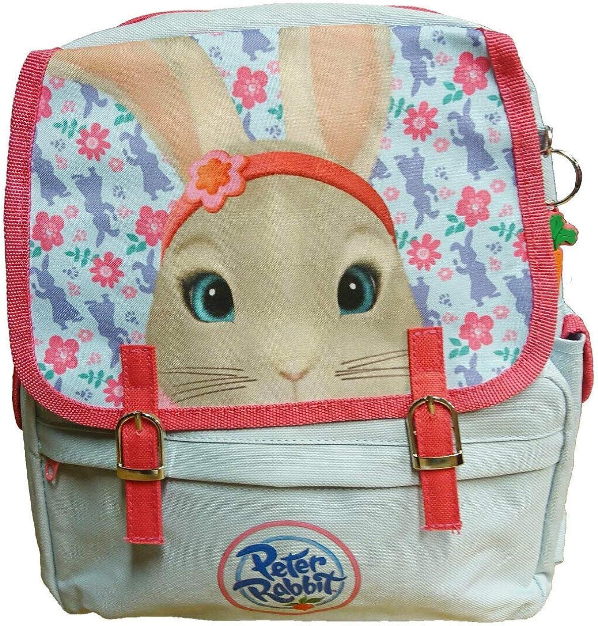 Peter Rabbit Lily Bobtail Floral Blue /& Pink Girl/'s Backpack School Bag