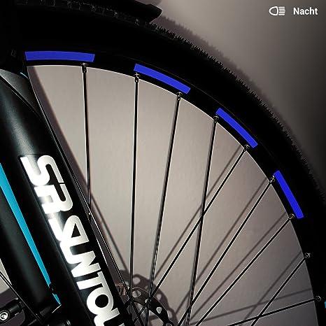 Moto King bicicleta de pegatinas reflectantes – 26 Pegatinas en Juego – Ancho: 7 mm