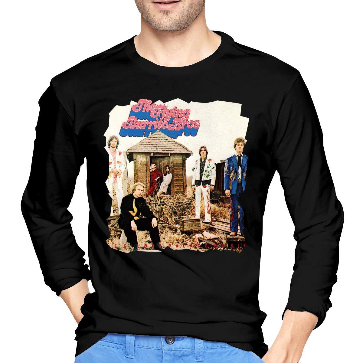JeremiahR Mens The Flying Burrito Brothers Wild Horses Long Sleeve T Shirts Black