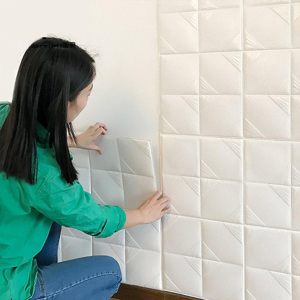 Sunhoo 3D壁紙シール ウォールステッカー 防音 シート パネル ステッカー クッションブリック 3D立体壁紙 DIYシール 70cm×70cm (30枚) B07CPRSBBN 30枚