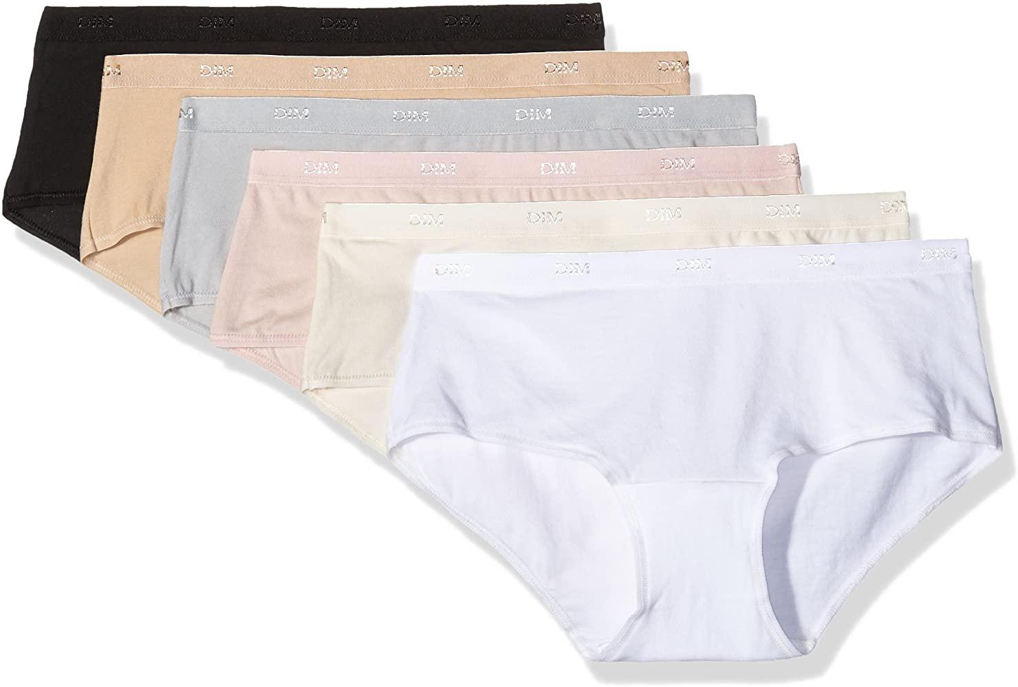 Dim Les Pocket Ecodim Boxer X6 Culotte, Multicolor (Lot Basique), 36 (Talla del Fabricante: 36 Taglia Produttore 36/38) (Pack de 6) para Mujer: Amazon.es: Ropa y accesorios