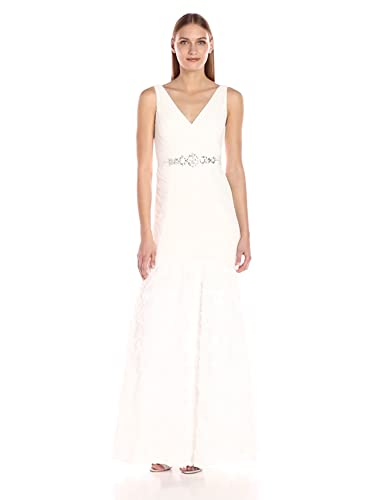 27c4df461d0e Amazon.com: Adrianna Papell Women's Sleevless Tuille Chiffon Petal Gown:  Clothing