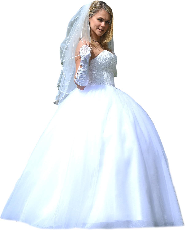 Unbekannt NEU Prinzessin Kristall Brautkleid Hochzeitskleid 18 18