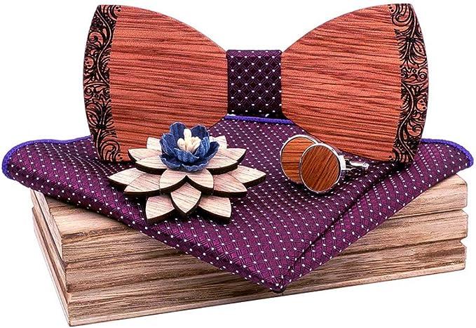 LR xiaorunfa Tallado de madera maciza (corbata de cuello) conjunto ...