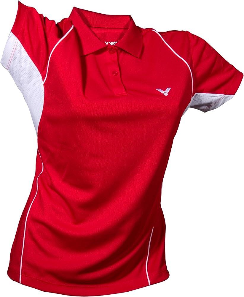 Victor Camiseta Polo para Mujer Red 6030, Rojo/Blanco, dddd, Mujer ...