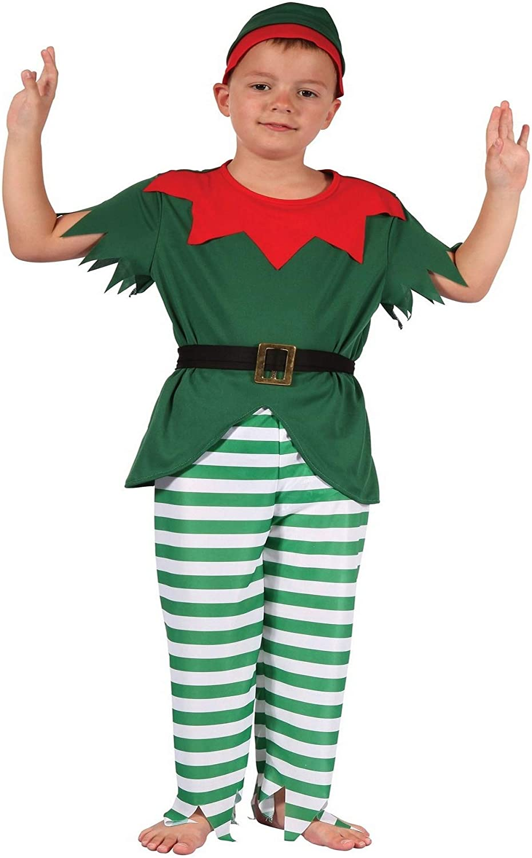 Bristol Novelty - Disfraz infantil de Duende Ayudante de Papá Noel ...