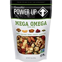 Power Up Trail Mix, Mega Omega Trail Mix, Non-GMO, Vegan, Gluten Free, No Artificial Ingredients, Gourmet Nut, 14 Ounce…