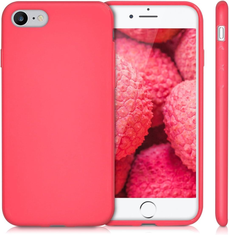 Protector Trasero en Gris Verdoso 2020 - Carcasa de TPU Silicona kwmobile Funda Compatible con Apple iPhone 7//8 // SE