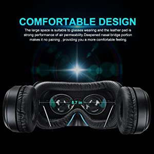 Vr Shinecon Vr Headset for Phone Cool Virtual Reality Goggles for Beginner, with Android Gamepad (Color: Black, Tamaño: Medium)
