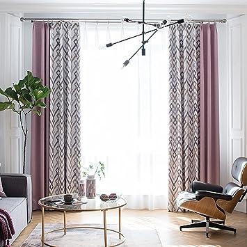 LZK Schatten skandinavischen Stil Vorhänge Baumwolle Leinen ...