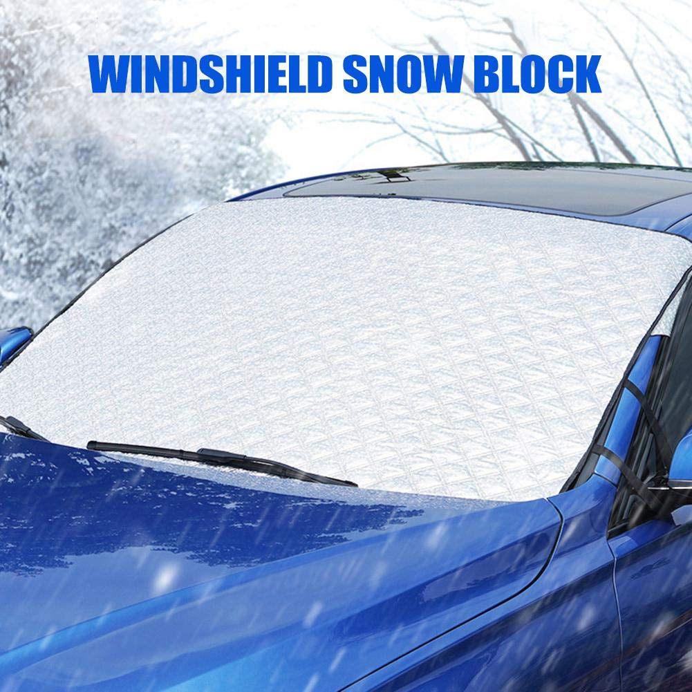 Wohnmobile 36,22 55,90 Zoll faltbare Windschutzscheibe Sonnenschutz mit Spiegelabdeckungen fit f/ür die meisten Fahrzeuge SUVs Auto Windschutzscheibe Schnee Eis Abdeckung wetterfest