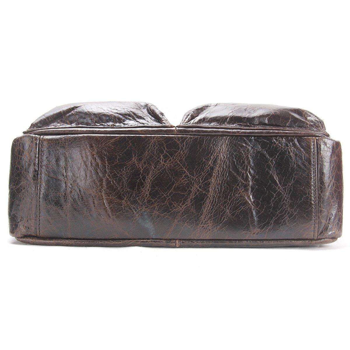 Contacts Genuine Leather Men 11 Messenger Crossbody Shoulder Bag Tablet PC Bag