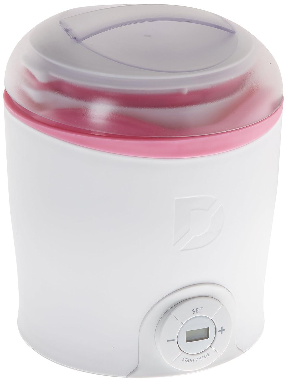 StoreBound DGY001WPK White with Pink Trim Dash Greek Yogurt Maker Multicolor