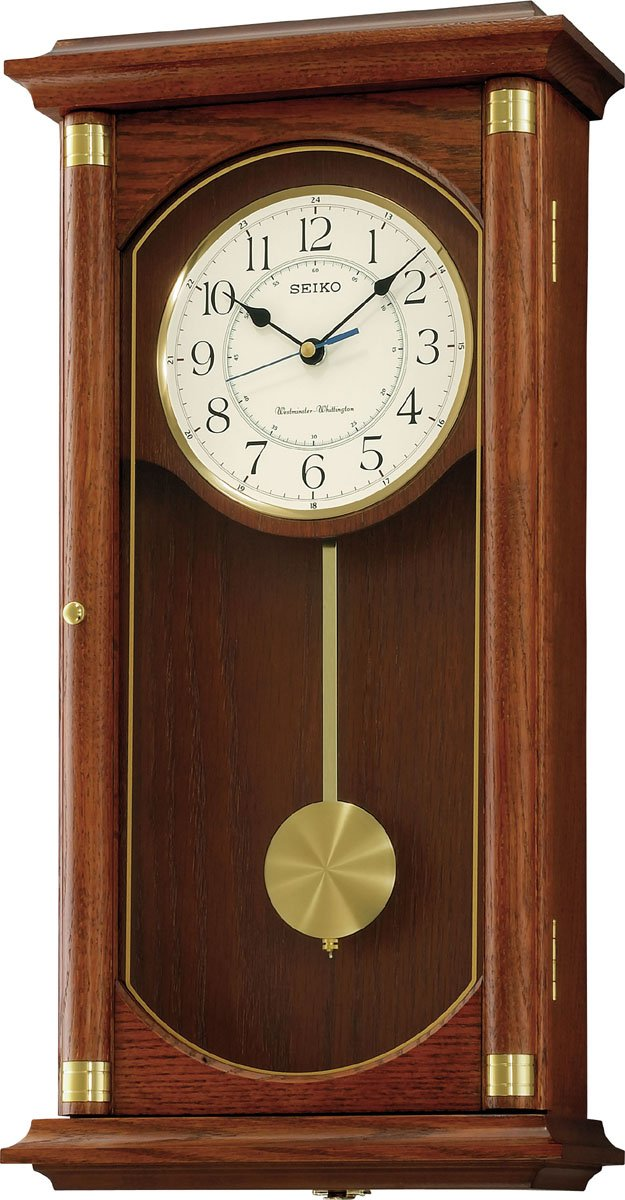 Wooden Pendulum Wall Clock Amazon Co Uk