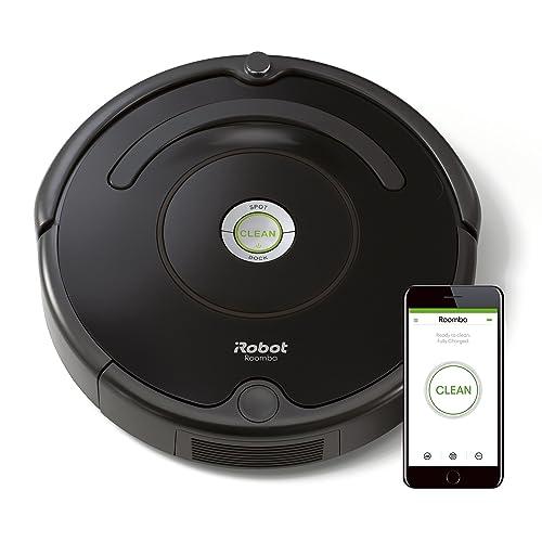 iRobot Roomba 671 Robot aspirador suelos duros y alfombras tecnología Dirt Detect limpieza en 3 fases wifi programable por app compatible con Alexa