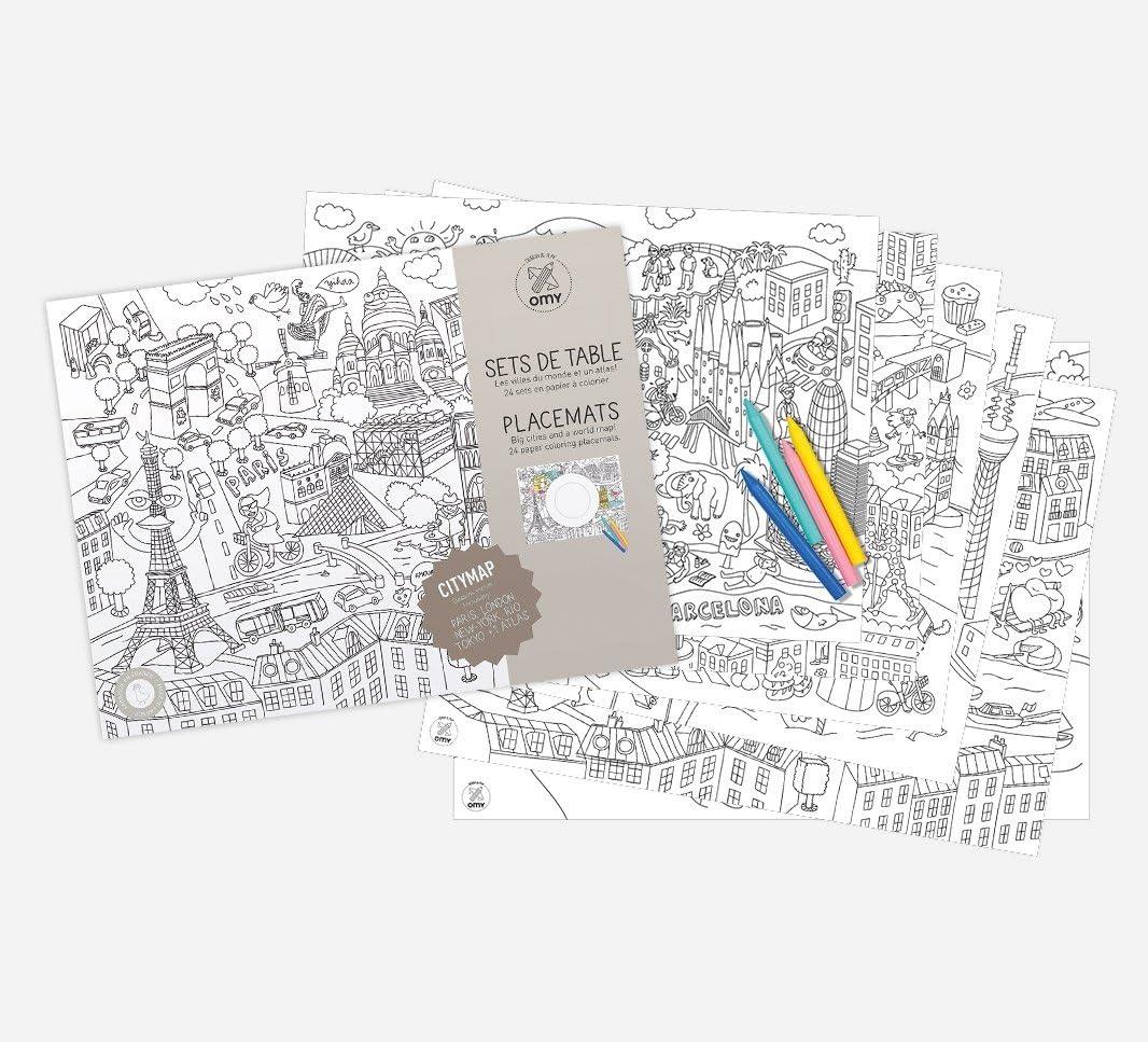 OMY /«Plan de la ville/» Coloroset Napperons