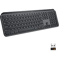Logitech MX Keys Advanced Wireless Illuminated Keyboard, Tactile Responsive Typing, Backlighting, Bluetooth, USB-C…