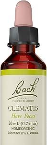 Bach Original Flower Remedy Dropper, 20 ml, Clematis Flower Essence
