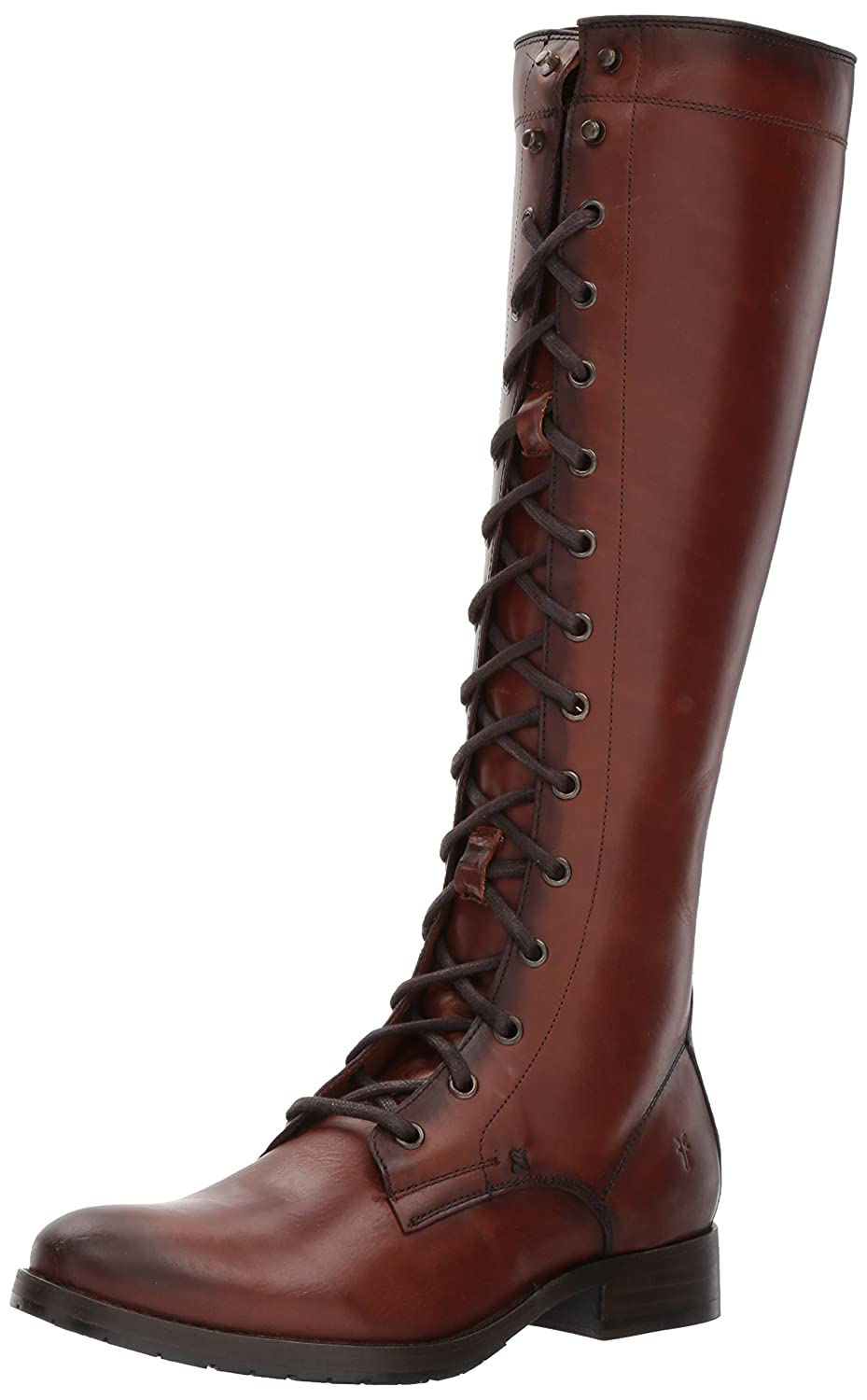 FRYE Women's Melissa Tall Lace Riding Boot B06X14T4MK 7.5 B(M) US|Redwood