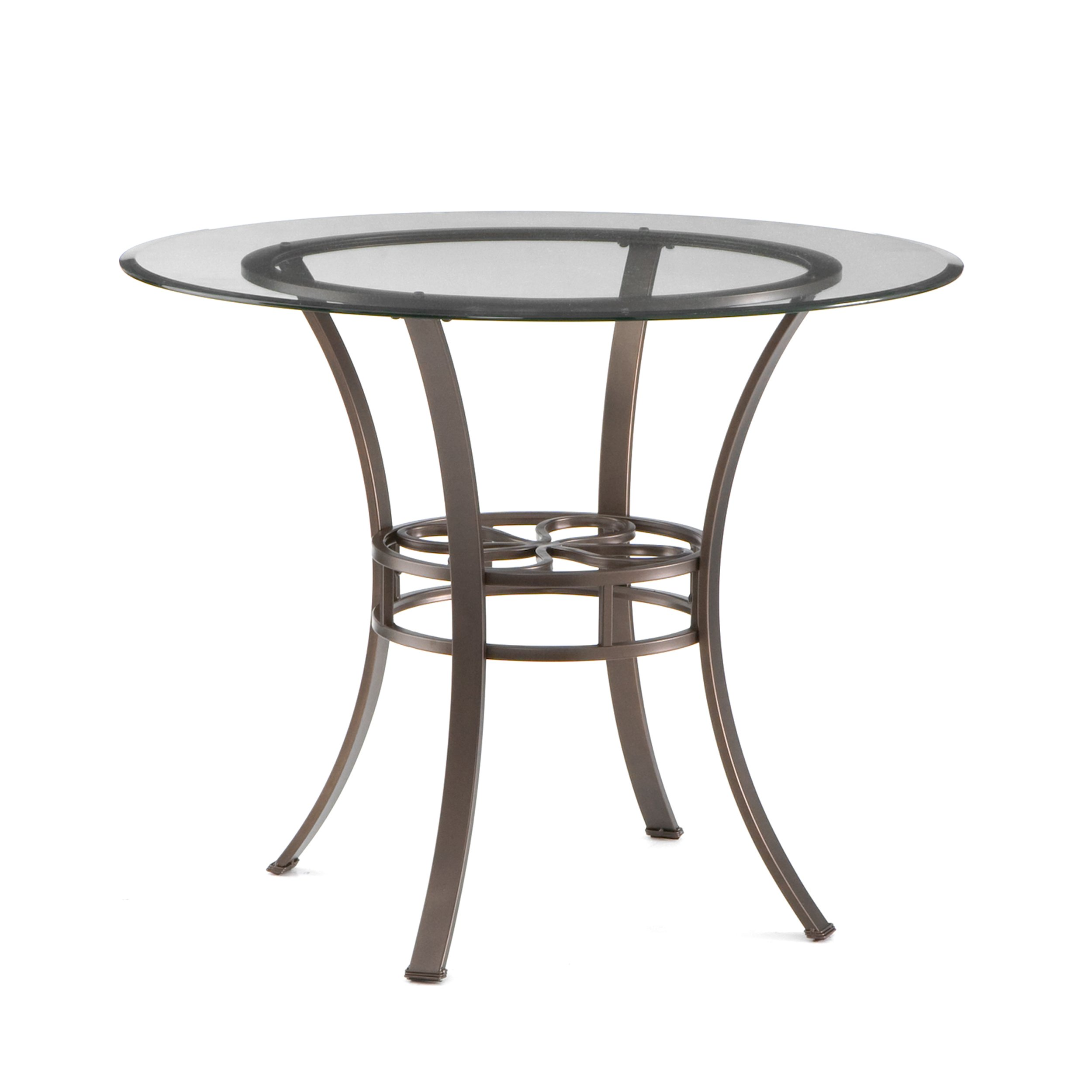 Southern Enterprises Lucianna Glass Top Dining Table, Dark Brown Finish by Southern Enterprises (Image #1)