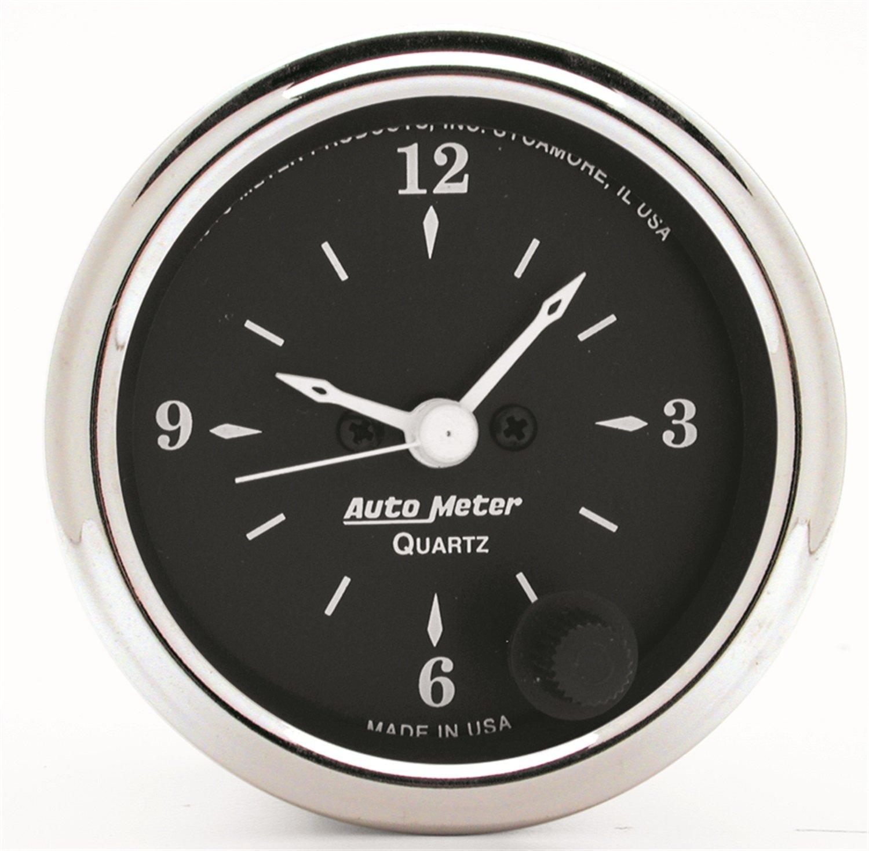 Auto Meter 1785 Old Tyme Black Clock