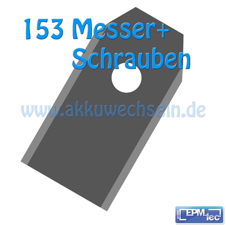 0,60 mm Messer + Schrauben passend für Husqvarna Gardena Automower Rasenmäher 0,6 (153)