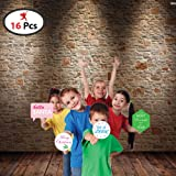 Party Propz Christmas Party Photo Booth Props (Set of 16)