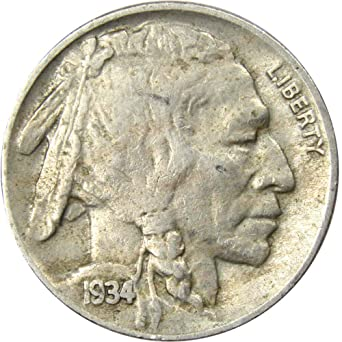 1934 Buffalo Nickels extremely fine