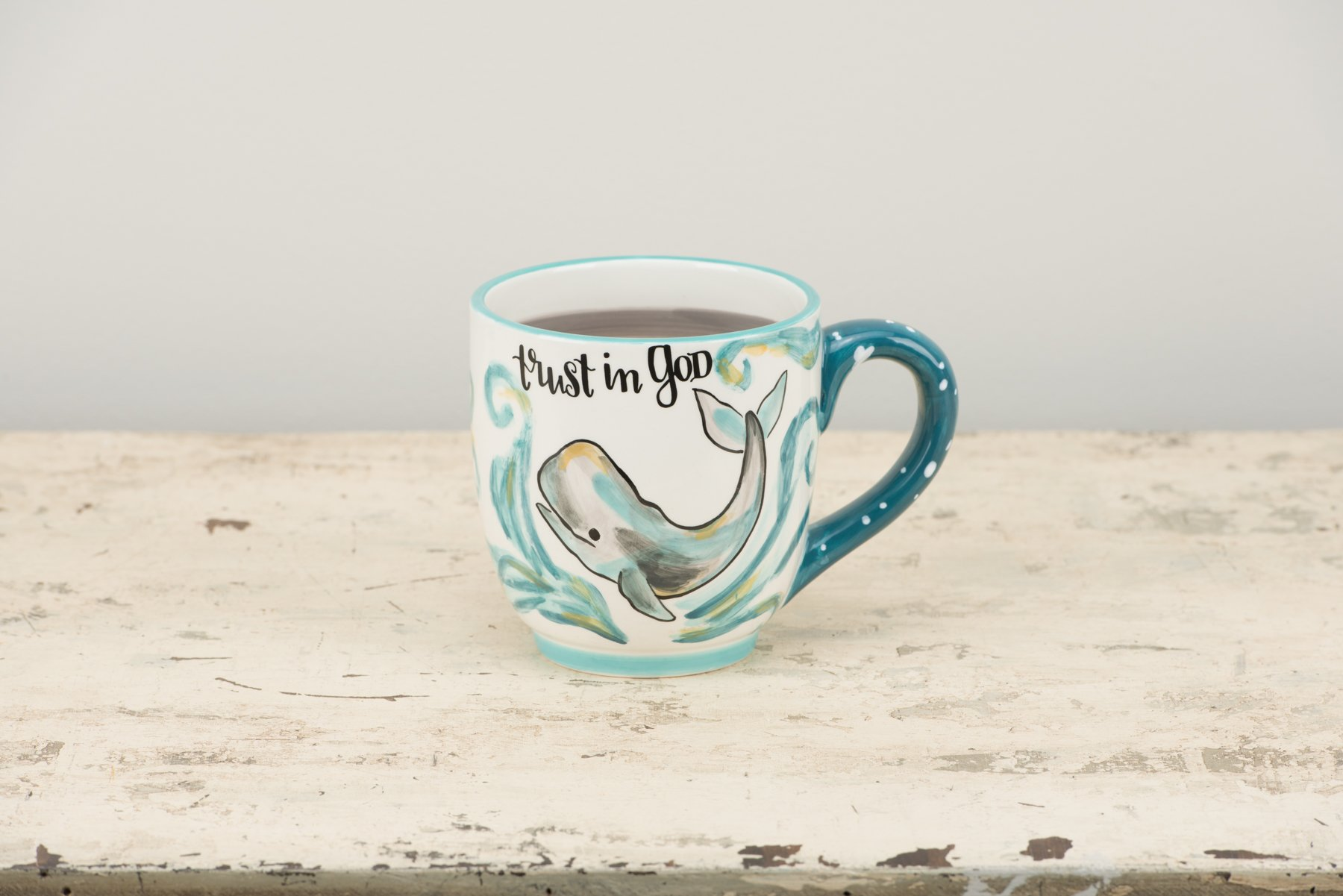 Glory Haus Trust in God Whale Mug, Multicolor