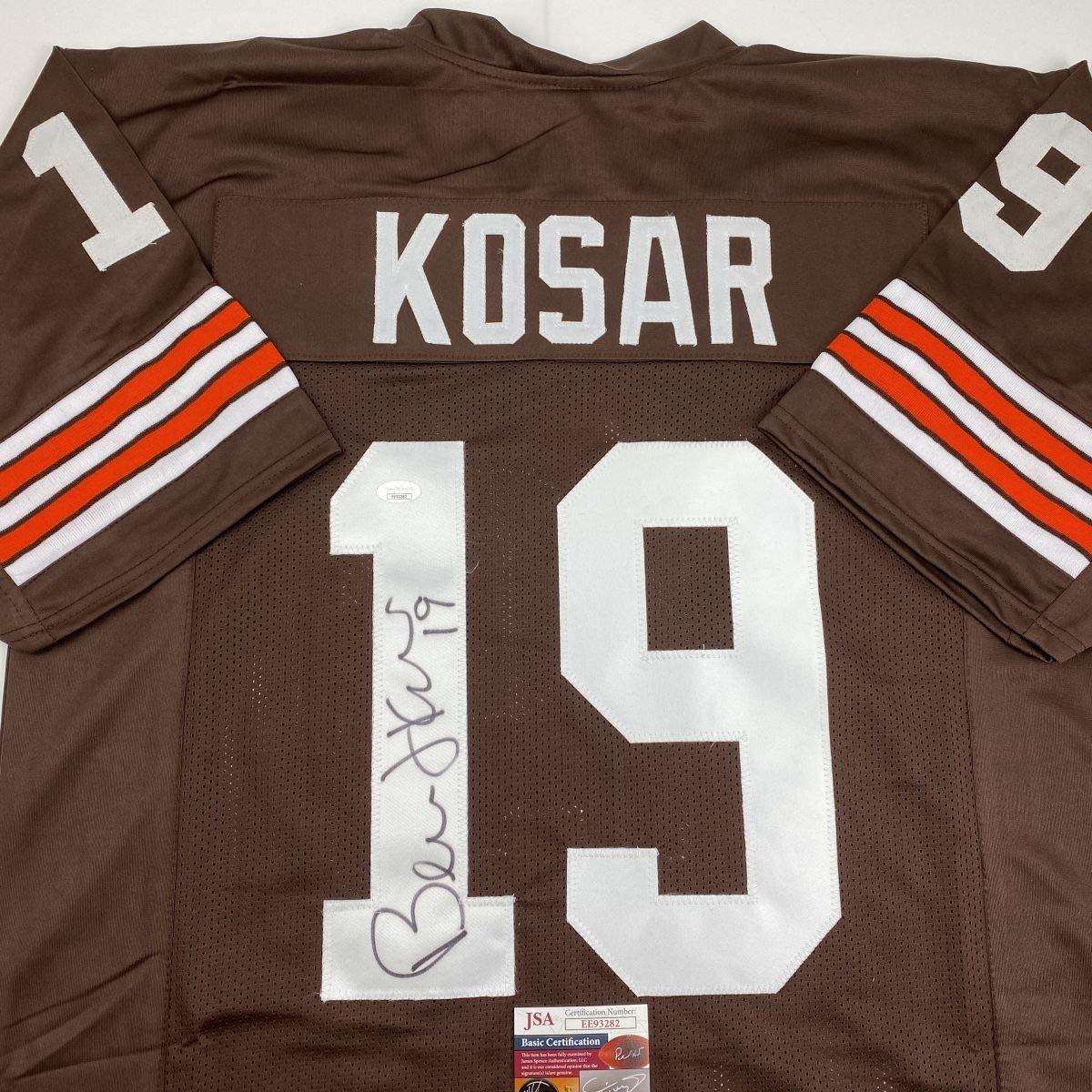 Autographed//Signed Bernie Kosar Cleveland Brown Football Jersey JSA COA