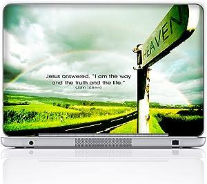 Meffort Inc 15 15.6 Inch Laptop Notebook Skin Sticker Cover Art Decal (Free Wrist pad) - Heaven