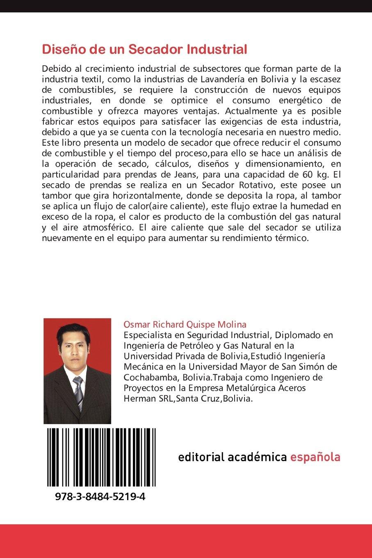 Diseno de Un Secador Industrial: Amazon.es: Osmar Richard Quispe Molina: Libros
