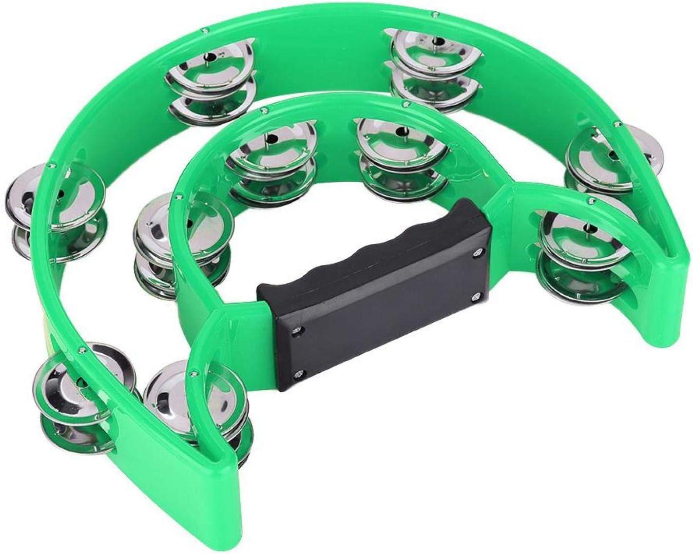 더블 징글 탬버린 부드러운 섬세한 솜씨 타악기 친구(녹색)