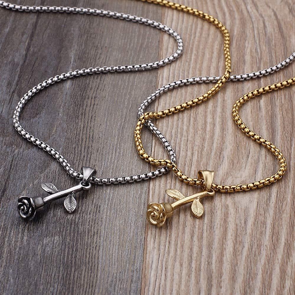 Color : Gold, Size : 32 * 18MM AMPQJ Pendentif Homme Pendentif Gothique en Acier Inoxydable plaqu/é Or Rose 18 carats pour Hommes Bijoux DIY Cadeau dhalloween Cadeau de Bijoux