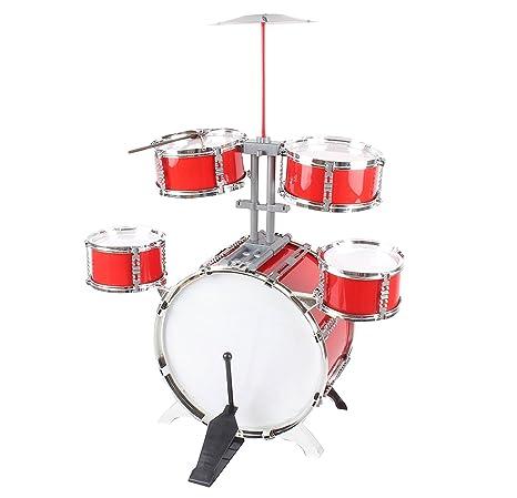 Kit de batería de rock de los niños, juego de instrumentos musicales juego - buen