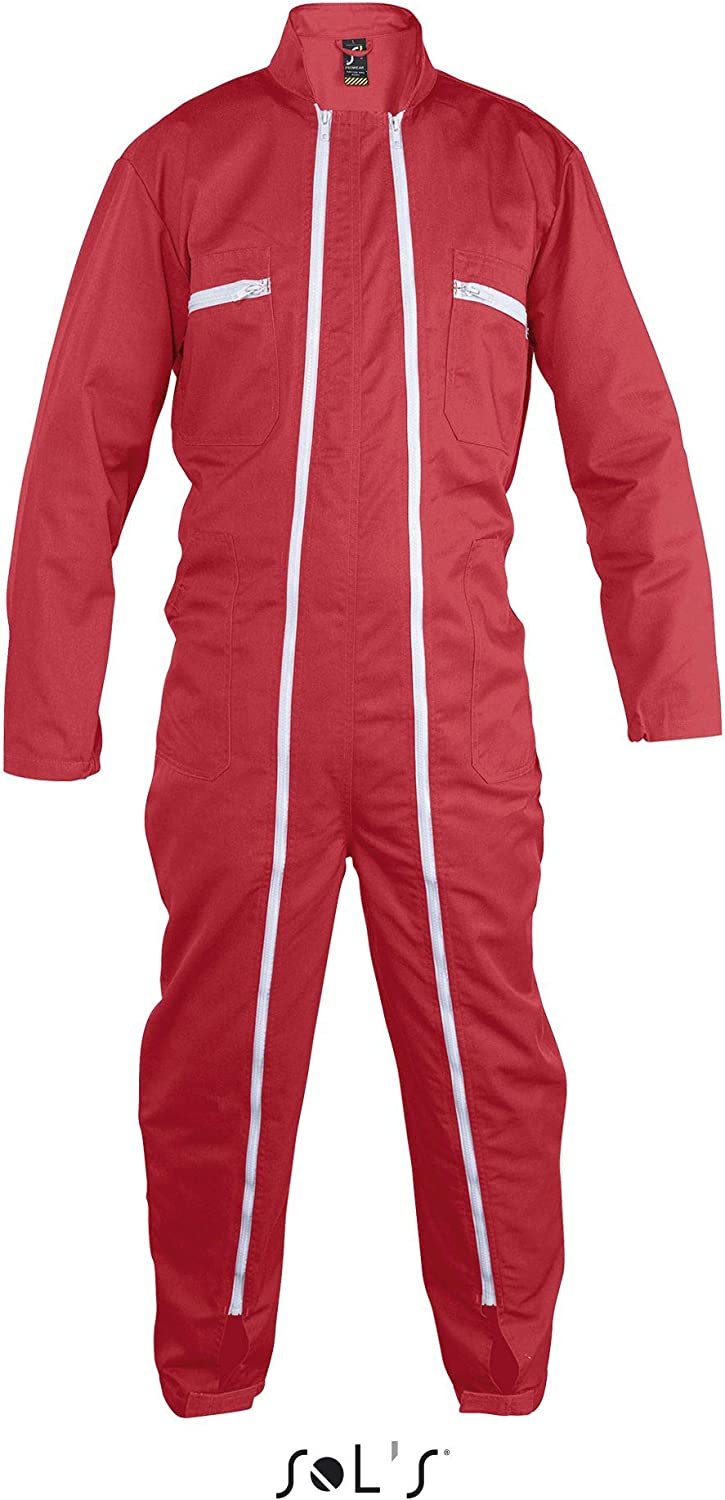 Red XL SOLS Workwear Overall Jupiter Pro 50//52